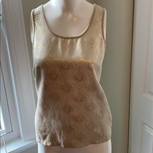 Gold/Tan sleeveless top from The Limited size XS